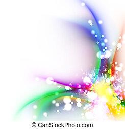 colorare, arcobaleno, disegno astratto, fondo