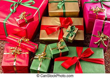 colorare, assortito, involvere, regali