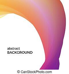 colorare, astratto, composizione, di, il, arancia, acquarello, waves.