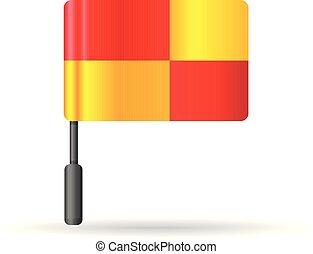 colorare, bandiera, -, guardalinee, icona