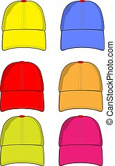 colorare, berretti baseball