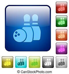 colorare, bowling, quadrato, bottoni