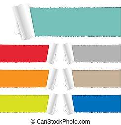 colorare, carta lacerata, collezione
