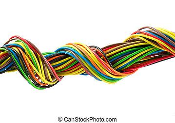 colorare, cavi, fascio