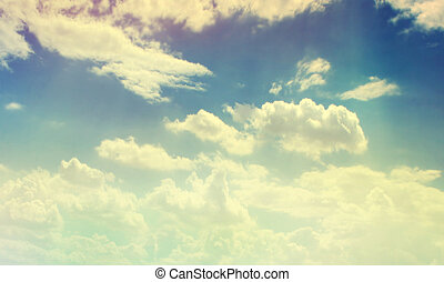 colorare, cielo, nuvoloso