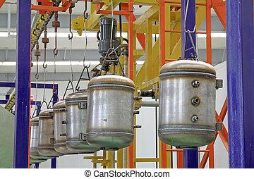 colorare, congegno, serbatoio, trasmissione, inossidabile, pressione, acciaio