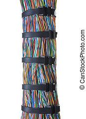 colorare, cravatte, cavi