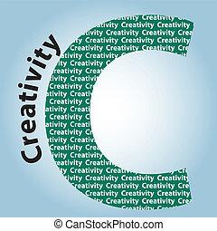 colorare, creatività, -, lettere