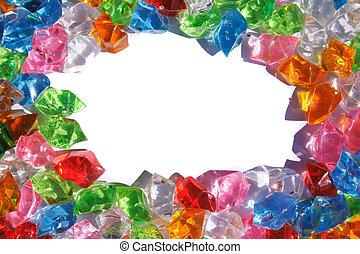 colorare, diamanti, plastica