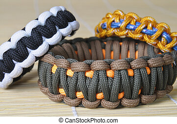 colorare, differente, paracord, tre