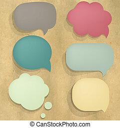 colorare, discorso, cartone, bolla, struttura