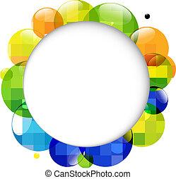 colorare, discorso, palle, bolla