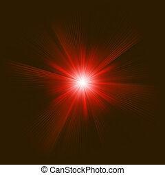 colorare, eps, burst., disegno, 8, rosso