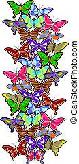 colorare, farfalla