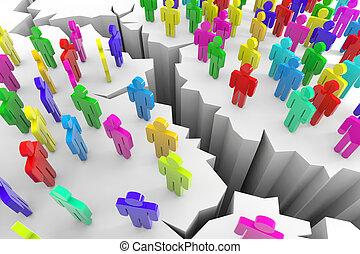 colorare, fesso, 3d, earth., persone