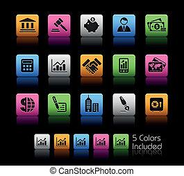 colorare, finanza, affari, /, scatola, &