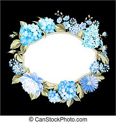 colorare, flowers., ghirlanda