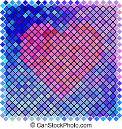 colorare, forma cuore, rosso, halftone