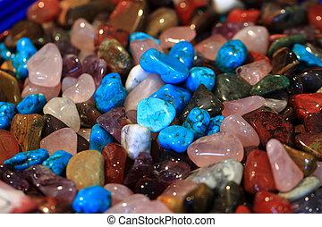 colorare, gemstone, minerali, fondo