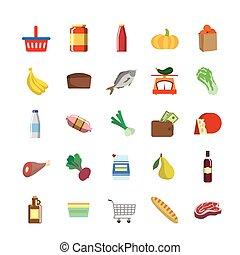 colorare, icone, generi alimentari