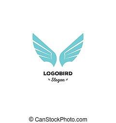 colorare, isolato, logotipo, sagoma, blu, ali, appartamento, penne, cartone animato, forma, severo, geometrico, logotype, aquila, uccello, triangolare, stilizzato, geek, elegante, volare, elemento, minimalismo, vettore