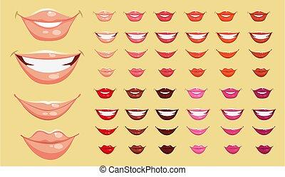 colorare, labbra