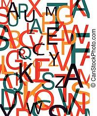 colorare, lettere, fondo