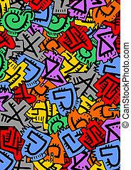 colorare, lettere