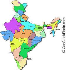 colorare mappa, india