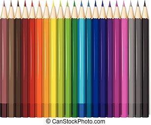 colorare, matite, in, venti, colori