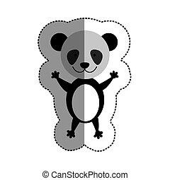 colorare, mezzo, adesivo, uggia, panda