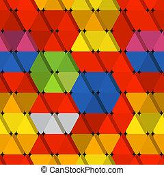 colorare, modello, astratto, seamless, triangoli