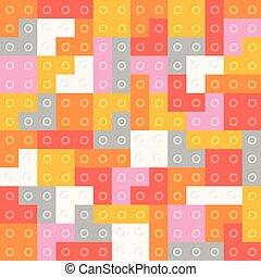 colorare, modello, blocchi, seamless, costruttore