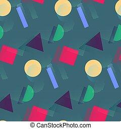 colorare, modello, forme geometriche, halftone