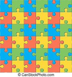 colorare, modello, puzzles., seamless