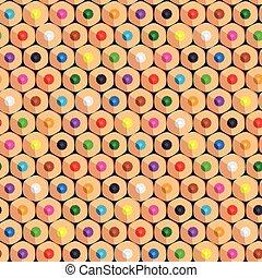 colorare, modello, seamless, fondo., vettore, pencils.