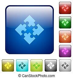 colorare, modules, quadrato, bottoni
