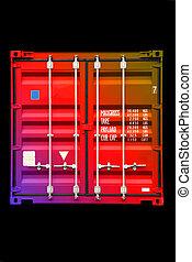 colorare, multicolor, 01, contenitore