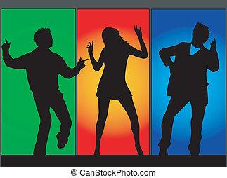 colorare, musica, illustrazione, ballo