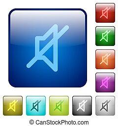 colorare, muto, quadrato, bottoni
