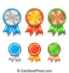 colorare, premio, medaglie