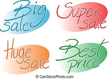 colorare, prezzi, simboli