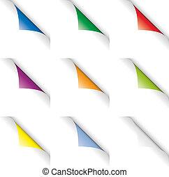 colorare, riccioli, pagina