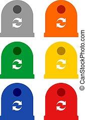 colorare, riciclare, simboli