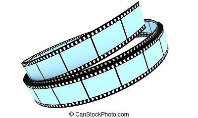 colorare, rotolato, segmento, su, film