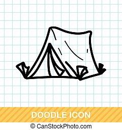 colorare, scarabocchiare, tenda