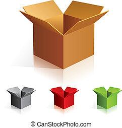 colorare, scatole