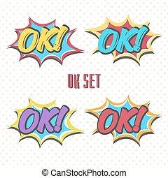 colorare, set, ok