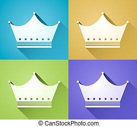 colorare, simboli, corona