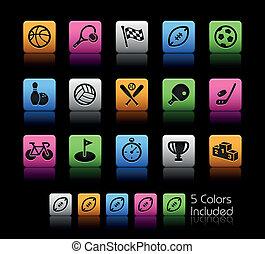 //, colorare, sport, scatola, icone